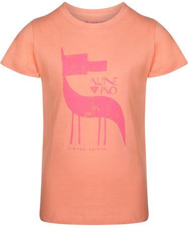 ALPINE PRO NEJO 2 dekliška majica, 104 - 110, oranžna