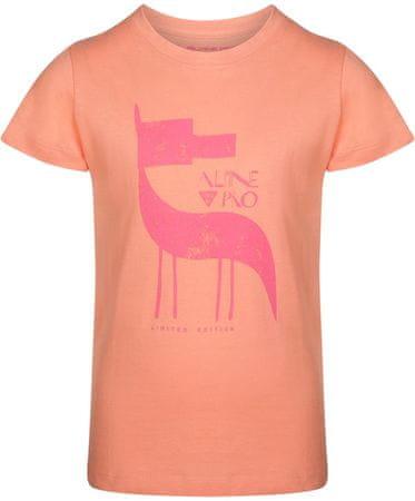 ALPINE PRO NEJO 2 dekliška majica, 140 - 146, oranžna