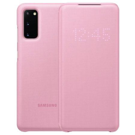 Samsung LED View preklopna maska za Samsung Galaxy S20, roza (EF-NG980PPE)