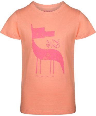 ALPINE PRO NEJO 2 dekliška majica, 116 - 122, oranžna
