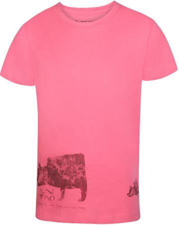 ALPINE PRO koszulka dziewczęca 2140 - 146 pomarańczowa