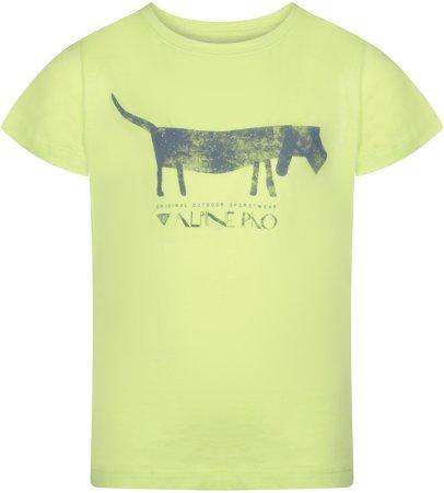 ALPINE PRO Koszulka chłopięca NEJO 2 104 - 102, zielona