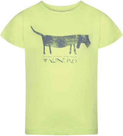 ALPINE PRO Koszulka chłopięca NEJO 2 116 - 122, zielona