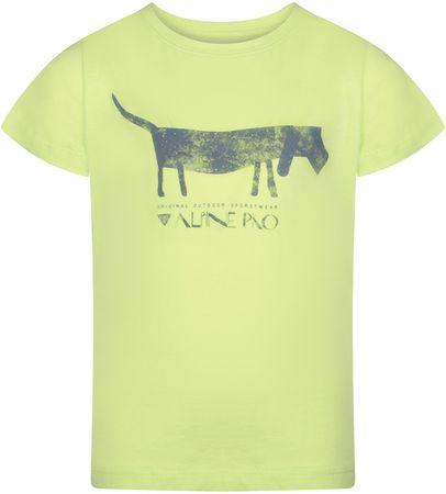 ALPINE PRO Koszulka chłopięca NEJO 2140 - 146, zielona