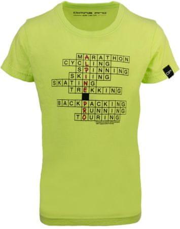 ALPINE PRO RIALDO fantovska majica, 104 - 110, svetlo zelena