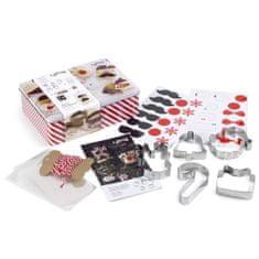 Lékué Dárková sada Vánočních vykrajovacích forem Lékué Christmas Cookies Kit