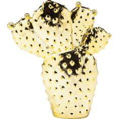 KARE Kasička Cactus Desert 22 cm - zlatá