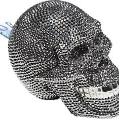 KARE Kasička Skull Crystal Silver