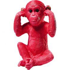 KARE Kasička Monkey Kikazaru - červená