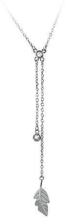 JVD Srebrna ogrlica s perjem SVLN0126XF3BI45 srebro 925/1000