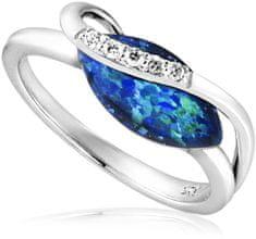 JVD LuksusowySrebrny pierścionek z opalem SVLR0040SH8O3 srebro 925/1000