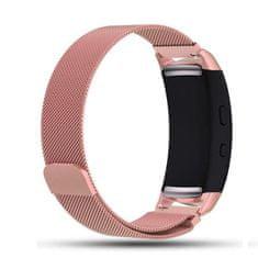 BStrap Samsung Gear Fit 2 Milanese řemínek, Rose Pink