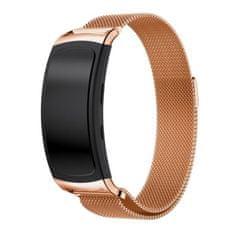BStrap Samsung Gear Fit 2 Milanese řemínek, Rose Gold