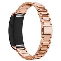 BStrap Samsung Gear Fit 2 Stainless Steel řemínek, Rose Gold