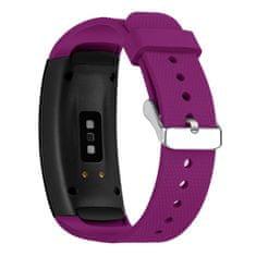 BStrap Samsung Gear Fit 2 Silicone Land szíj, Dark Purple