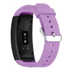 BStrap Samsung Gear Fit 2 Silicone Land szíj, Light Purple