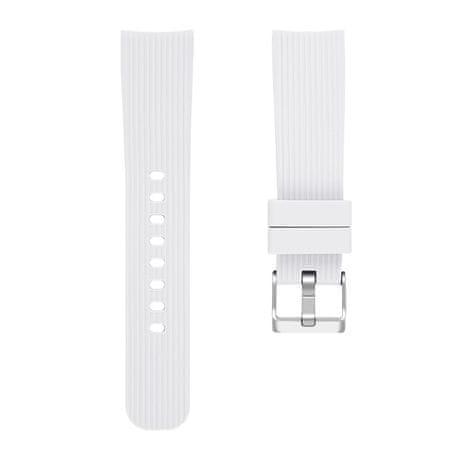 BStrap Samsung Galaxy Watch Active 2 40mm Silicone Line (Large) pašček, White