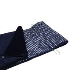 Aesthetic Aesthetic Fusak jarní/ přechodový 2v1 - Star bílá na modré plátno / modrá mikroplyš