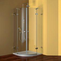 Mereo Sprchový kout, Fantasy, čtvrtkruh, 90 cm, R550, chrom ALU, sklo Čiré, panty oválné (CK70102E)