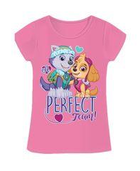 SETINO Dievčenske tričko s krátkym rukávom Paw Patrol - svetlo ružová