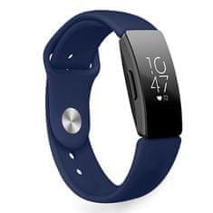 BStrap Fitbit Inspire Silicone (Large) řemínek, Dark Blue