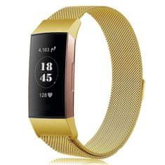 BStrap Fitbit Charge 3 Milanese (Large) řemínek, Gold
