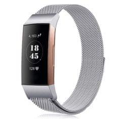 BStrap Fitbit Charge 3 Milanese (Small) řemínek, Silver