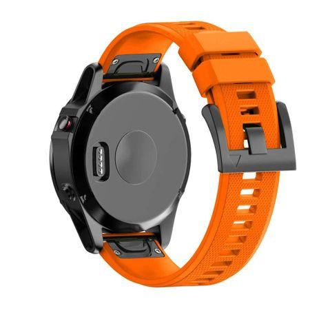 BStrap Garmin Fenix 5x Silicone Acton pašček, Orange