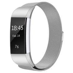 BStrap Fitbit Charge 2 Milanese (Large) řemínek, Silver