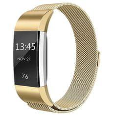 BStrap Fitbit Charge 2 Milanese (Large) řemínek, Gold