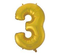 GoDan 3-as számú fóliaballon - arany matt - 92 cm