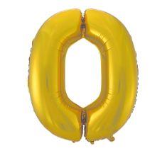 GoDan Fóliový balón číslo 0 - zlatá matná - 92 cm