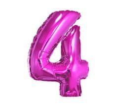 GoDan Fóliový balón číslo 4 - fialová - 92 cm
