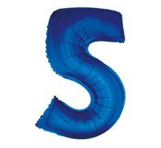 GoDan Fóliový balón číslo 5 - modrá - 92 cm