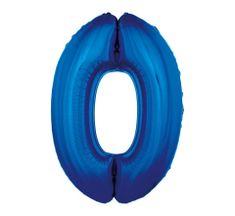 GoDan Fóliový balón číslo 0 - modrá - 92 cm