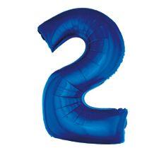 GoDan Fóliový balón číslo 2 - modrá - 92 cm