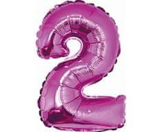 GoDan Fóliový balón číslo 2 malý - fialová - 35 cm
