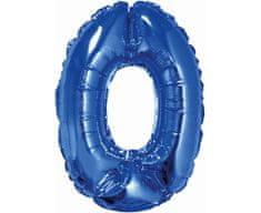 GoDan Fóliový balón číslo 0 malý - modrá - 35 cm