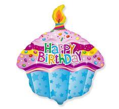"""GoDan Fólia Balloon 24 """"Boldog születésnapot - Muffin"""