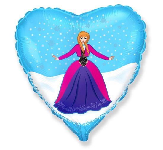 "GoDan Fóliový balón srdce 18"" Frozen - Anna"