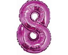 GoDan Fóliový balón číslo 8 malý - fialová - 35 cm