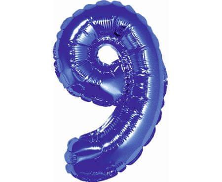 GoDan Léggömb fólia száma 9 kicsi - kék - 35 cm