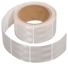 Compass Samolepící páska reflexní dělená 5m x 5cm bílá (role 5m)