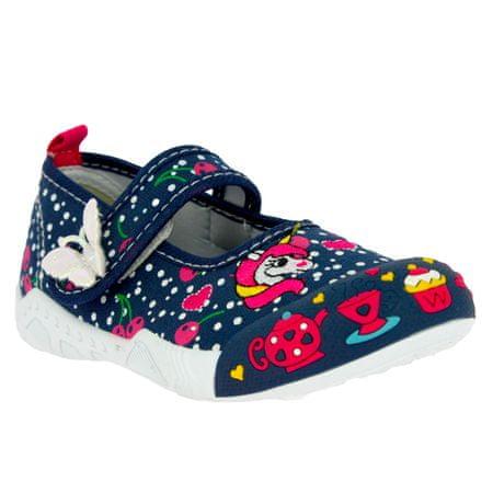 V+J lány cipő 130-0009-S1, 22, sötétkék