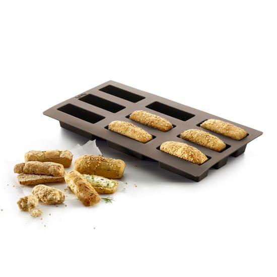 Lékué Silikonová pečicí forma na mini bochníků 9 ks Lékué Small Breads | hnědá