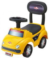 Teddies Odrážedlo auto plast žluté