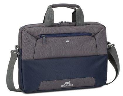 """RivaCase torba na laptopa 14"""", szaro - niebieska 7727-SBG"""