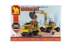 Dromader Stavebnica Dromader bager + nákladné auto 29506 293ks v krabici 35x25x6cm