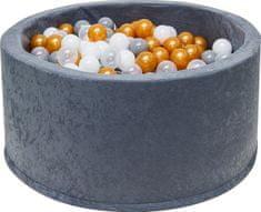 iMex Toys 3478 Suchý bazén s míčky šedý