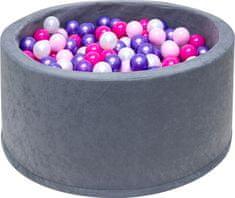 iMex Toys 3508 Suchý bazén s míčky šedý